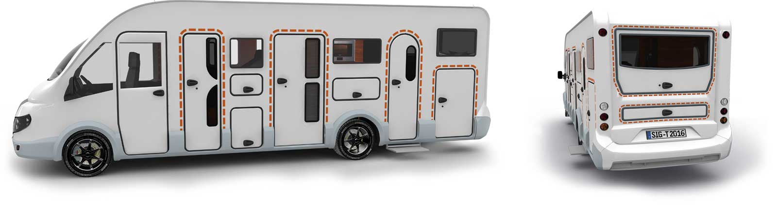 Satisfied tegos customers with Rapido caravans and RVs